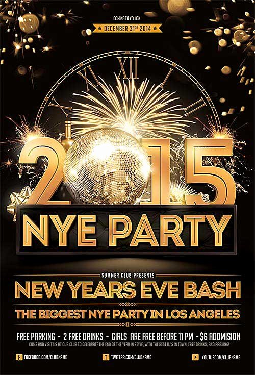 Download the Best Free New Year Flyer Psd Templates for