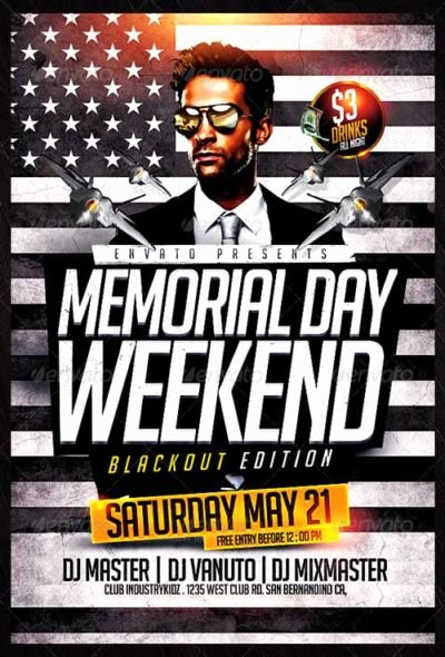 Download the Best Memorial Day Flyer Templates for Shop