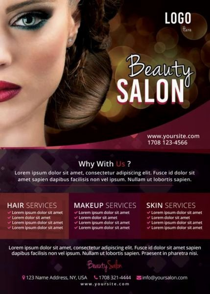 Download the Free Beauty Salon Flyer Template for Shop