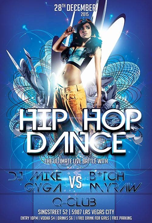 Download the Free Hip Hop Dance Flyer Template