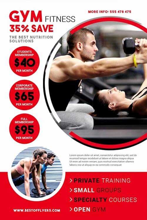 Download the Gym Fitness Free Flyer Template for Shop