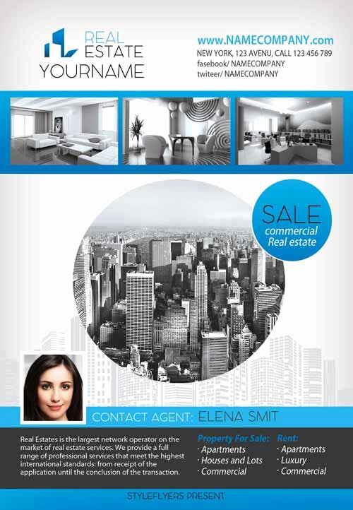 Download the Real Estate Free Flyer Template for Shop
