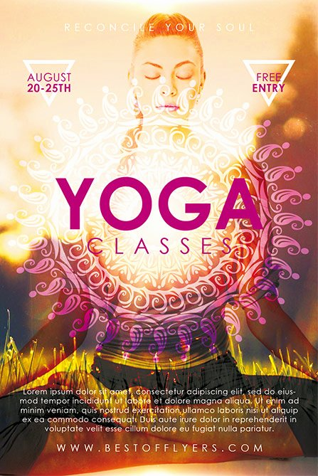 Download the Yoga Classes Free Poster and Flyer Template