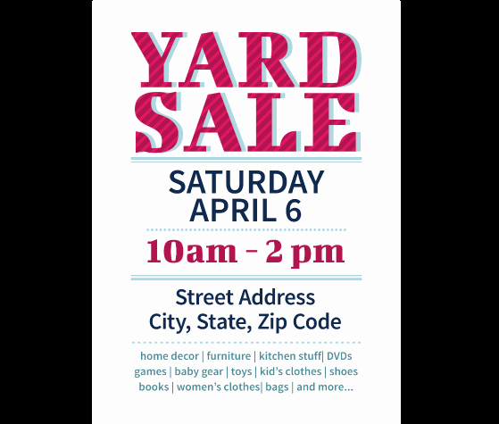 Download This Yard Sale Flyer Template and Other Free