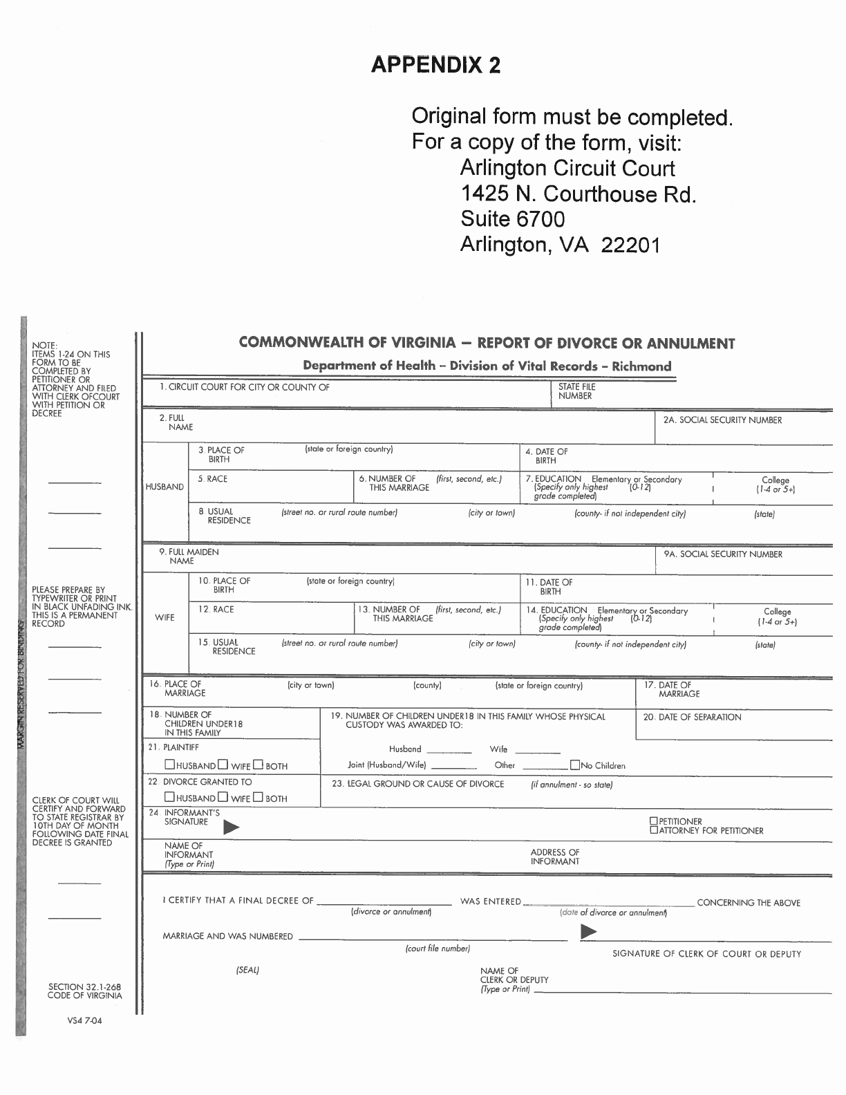 Download Virginia Separation Agreement Template for Free