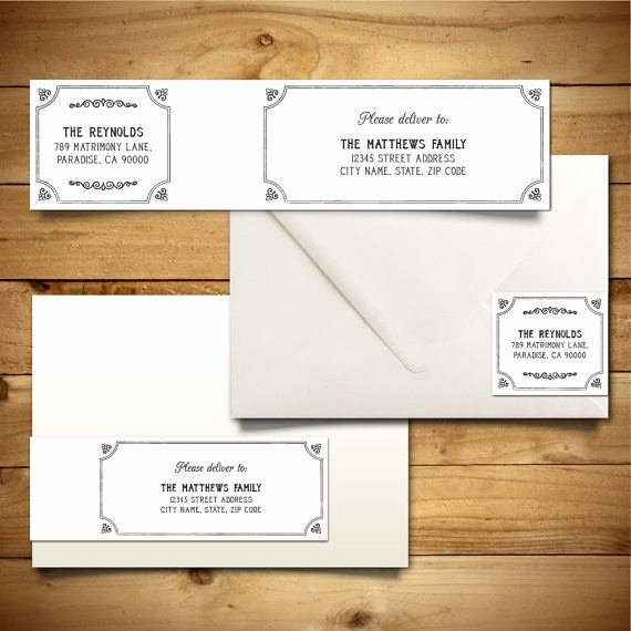 Download Wedding Mailing Labels Templates – Free Template