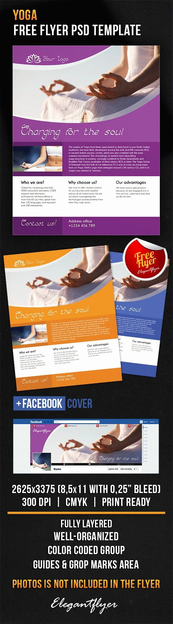 Download Yoga Cover Psd Flyer Template