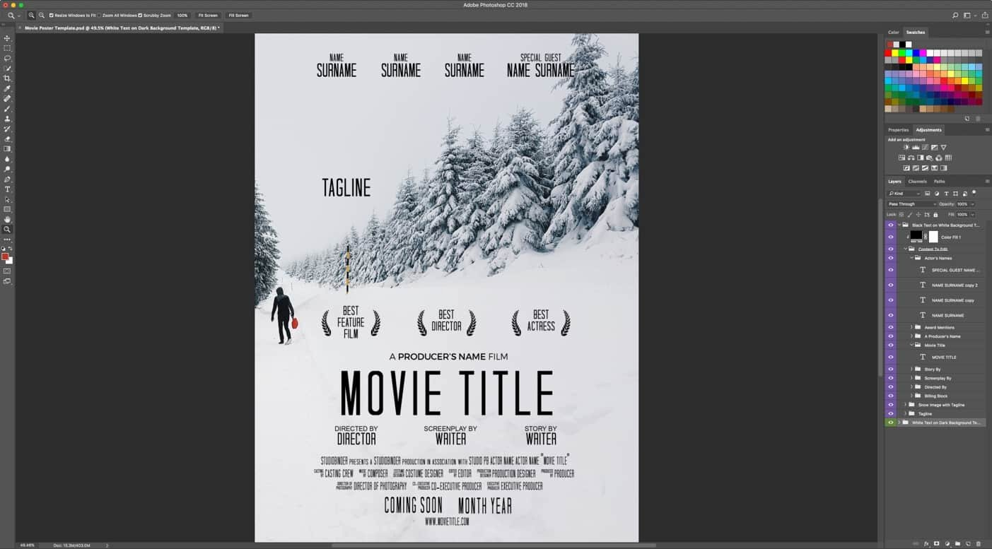 Download Your Free Movie Poster Template for Shop