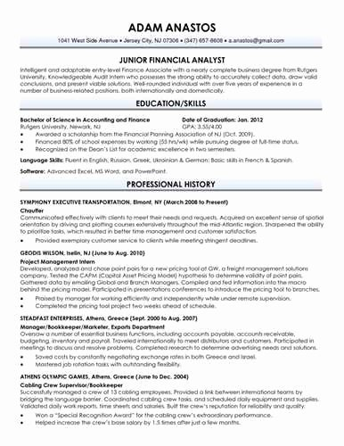 Download Your Free Recent College Graduate Resume Template
