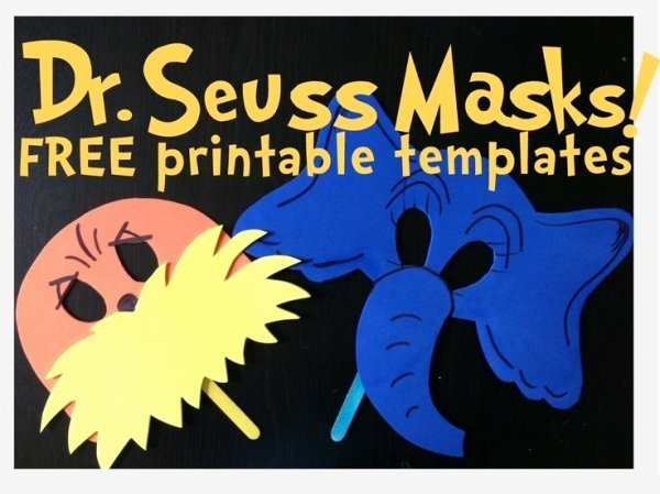 Dr Seuss the Lorax and Horton Masks Free Printable
