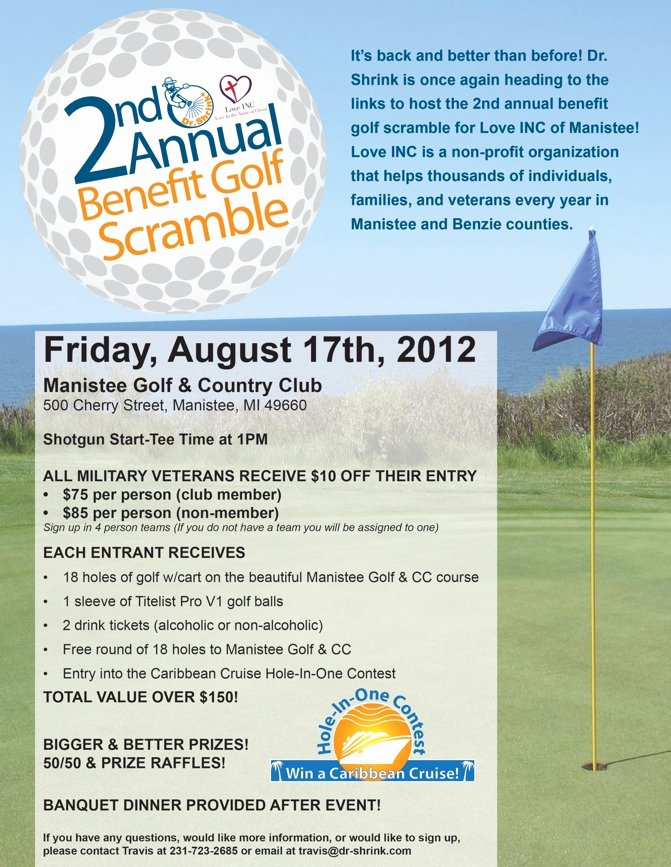 Dr Shrink 2nd Annual Benefit Golf Scramble