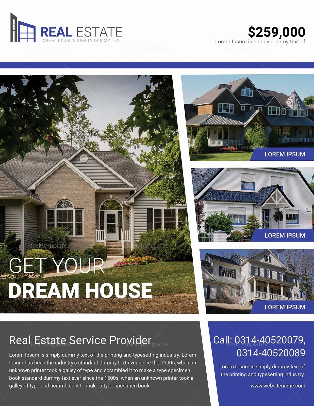 Dream Home Real Estate Flyer Design Template In Word Psd