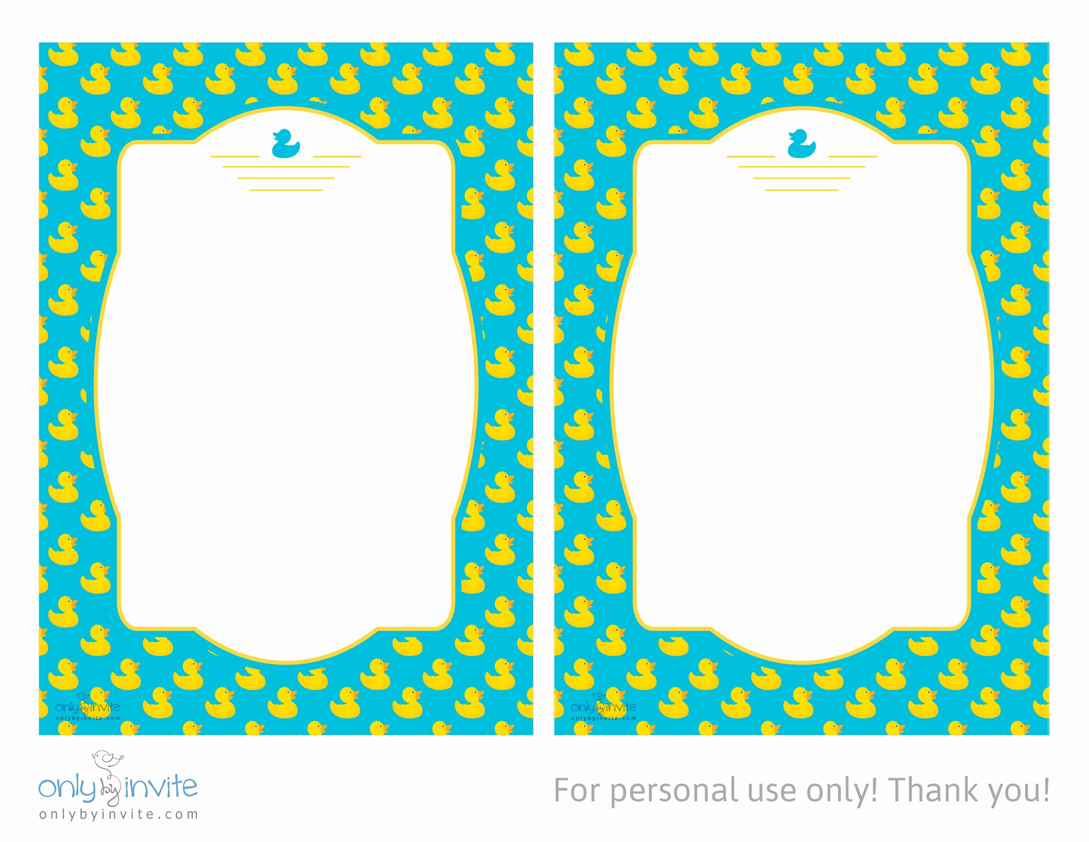 Duck Baby Shower Invitations Template