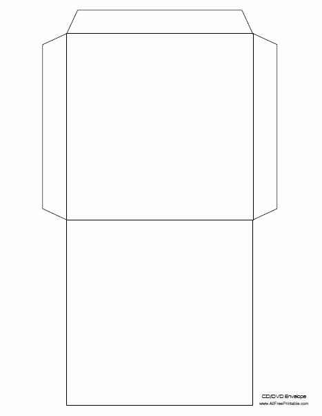 Dvd Envelope Template Free Printable Allfreeprintable