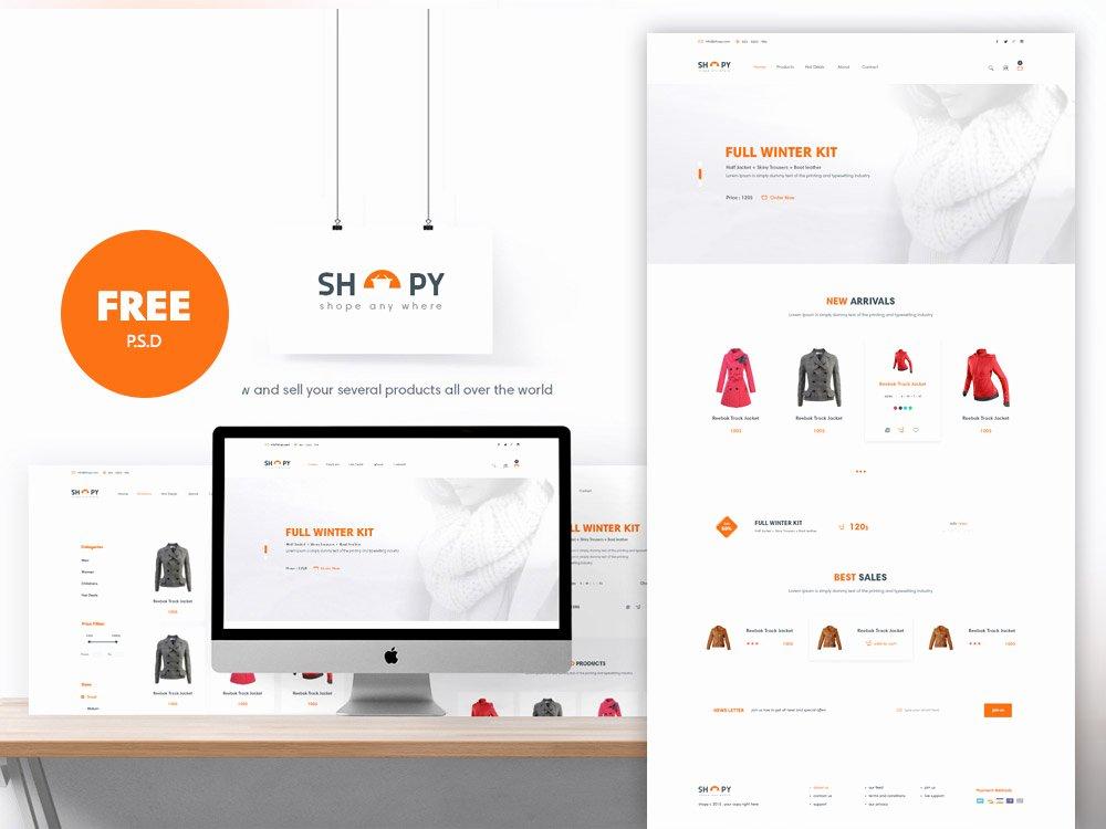 E Merce Shopping Website Template Free Psd Download