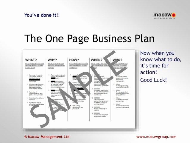 E Page Business Plan