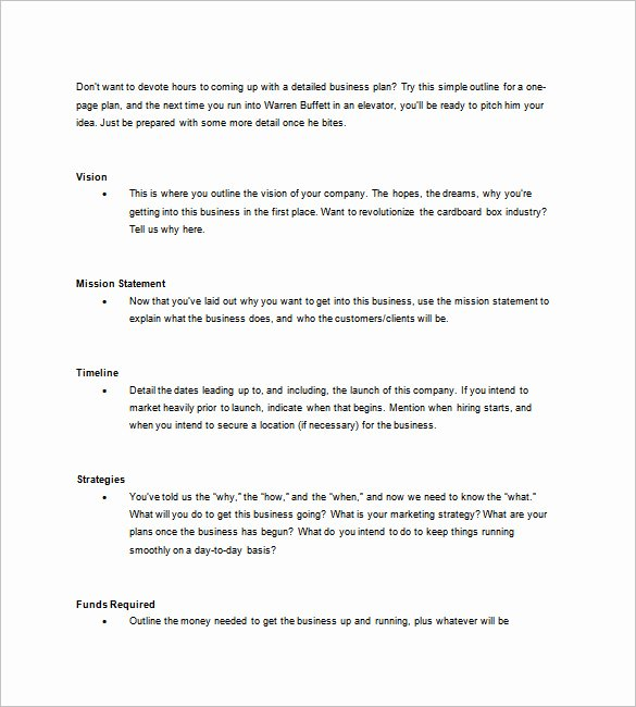 E Page Business Plan Template – 11 Free Word Excel Pdf