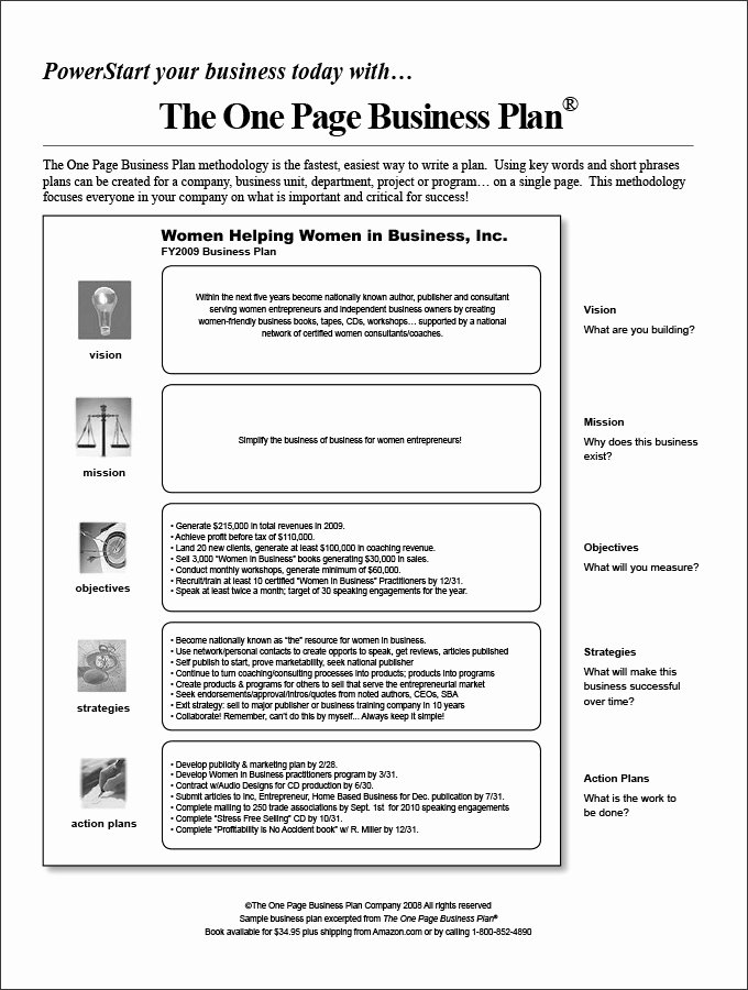 E Page Business Plan Template 14 Free Word Pdf