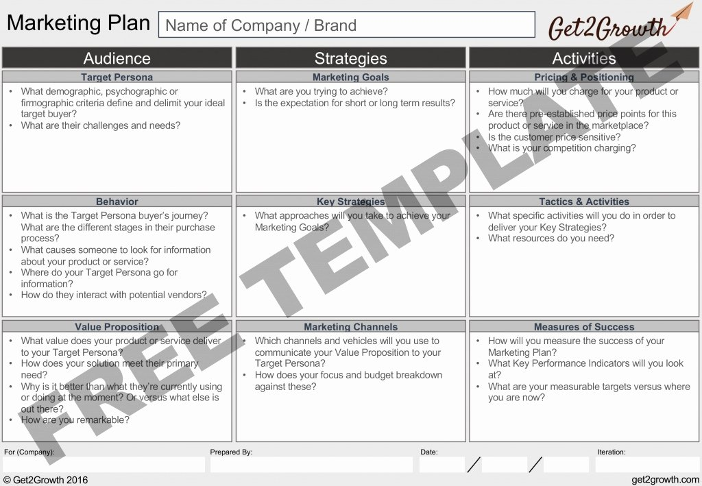 E Page Marketing Plan Template Invitation Template