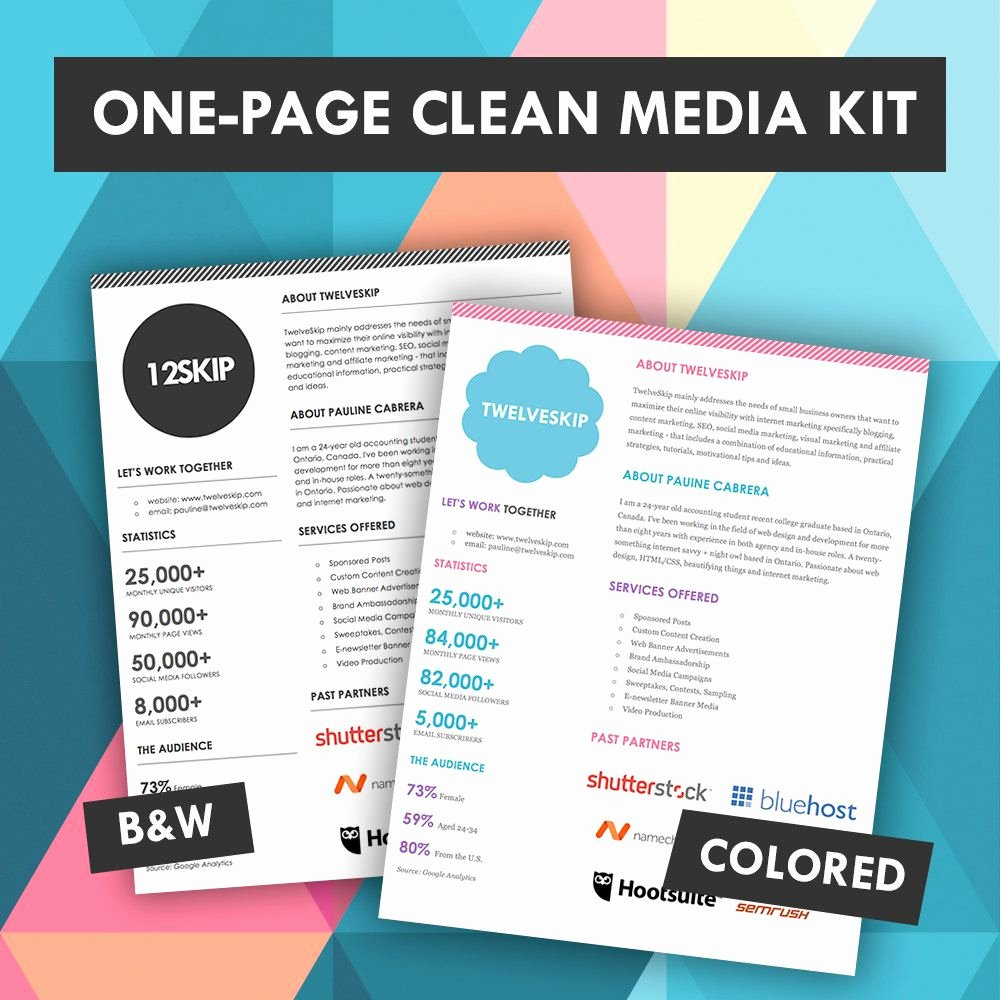 E Page Media Kit Template