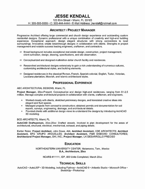 E Page Resume Examples