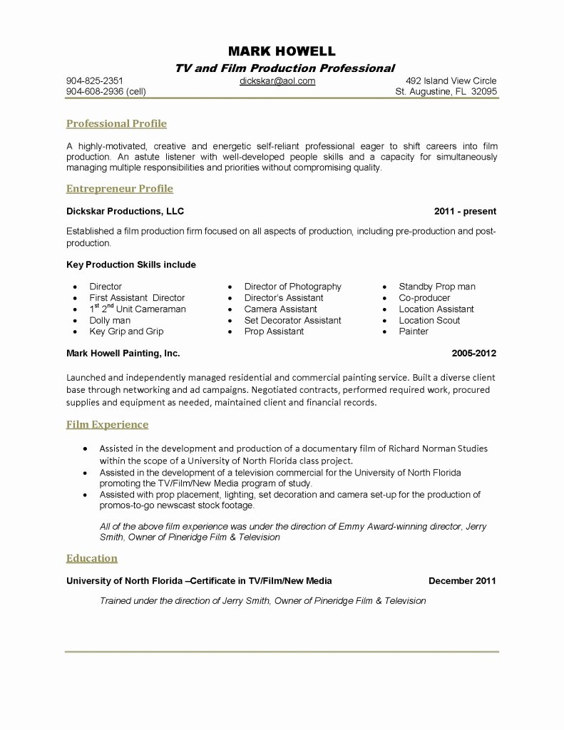 E Page Resume Template