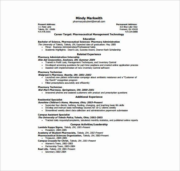 E Page Resume Template