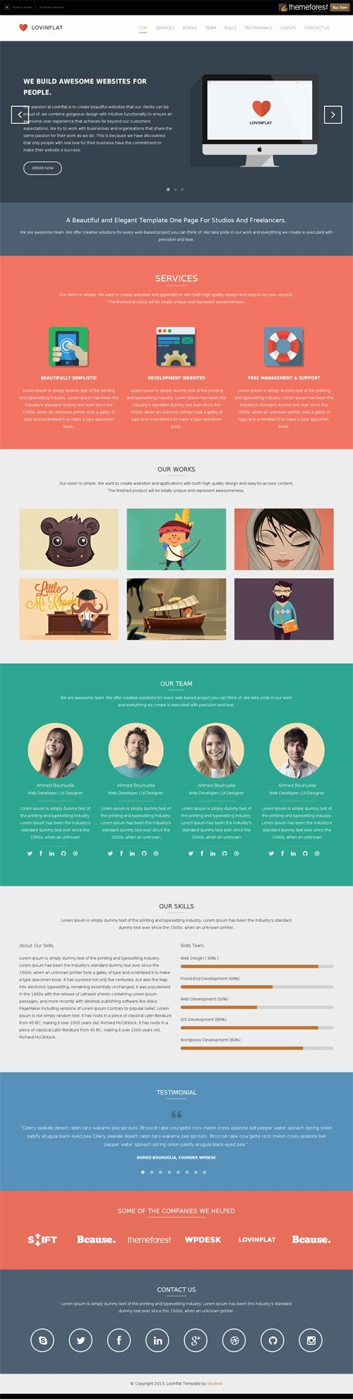 E Page Website Template