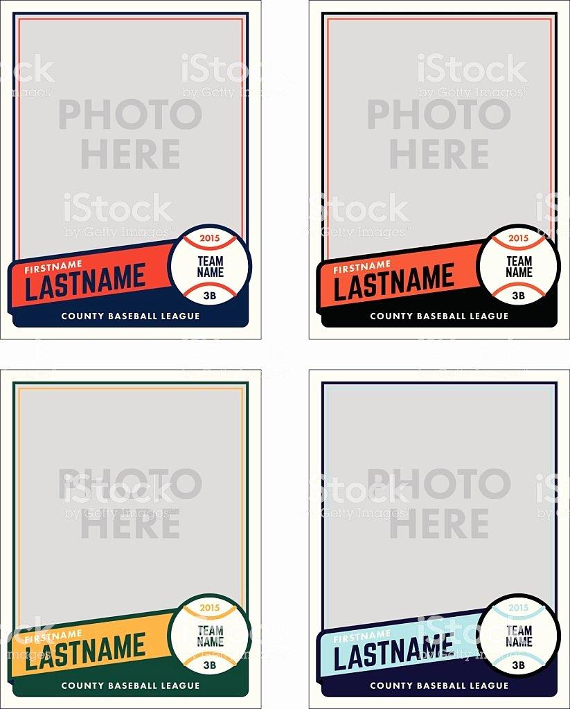野球カードベクトルテンプレート のイラスト素材