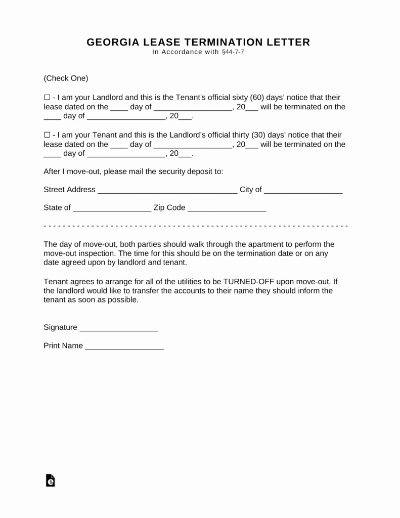 Early Termination Lease Agreement Letter Cover Letter