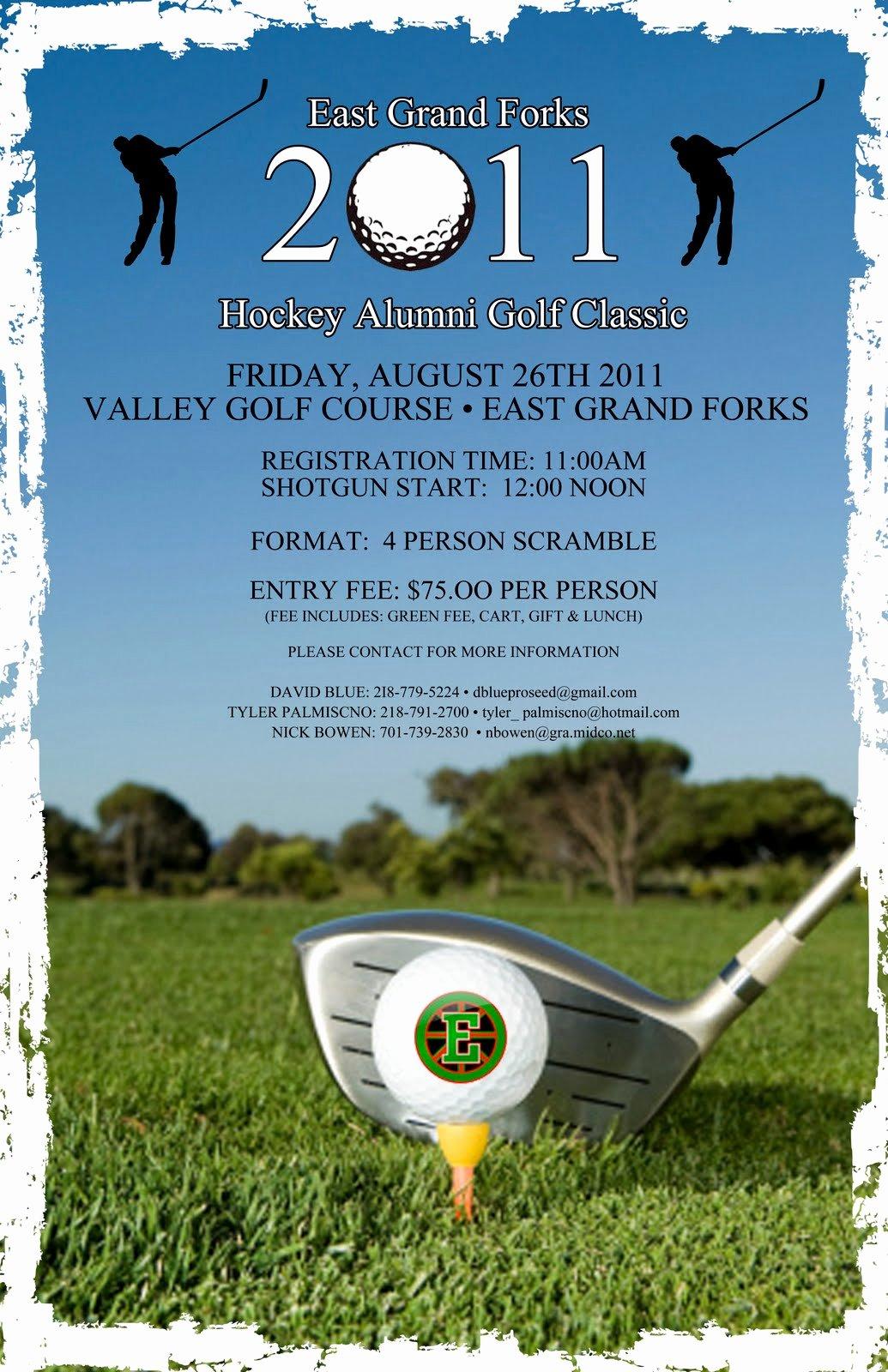 East Grand forks Greenwave Hockey Golf tournament