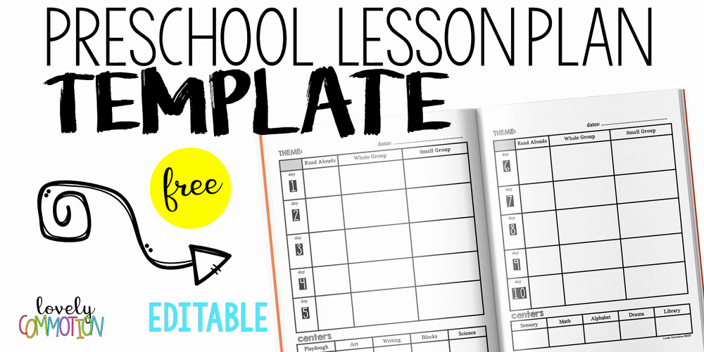 Easy and Free Preschool Lesson Plan Template — Lovely