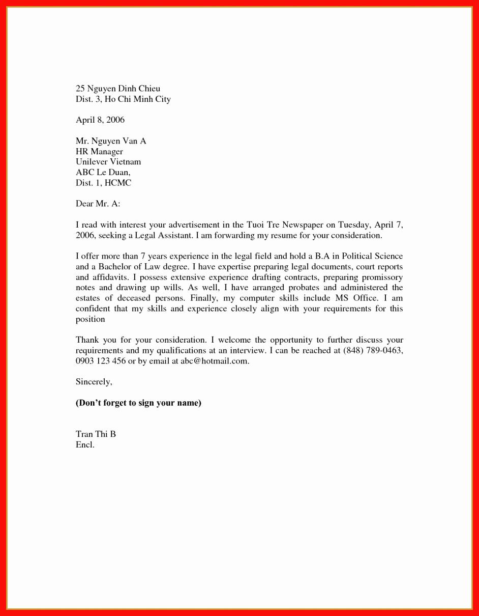 Easy Cover Letter Samples