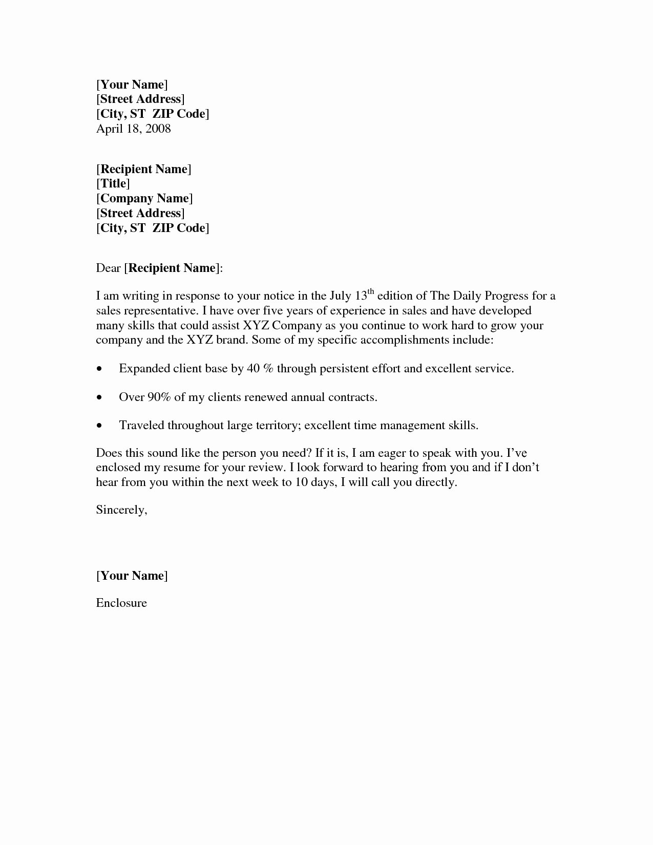 Easy Cover Letter Template Free Cover Letter and Resume