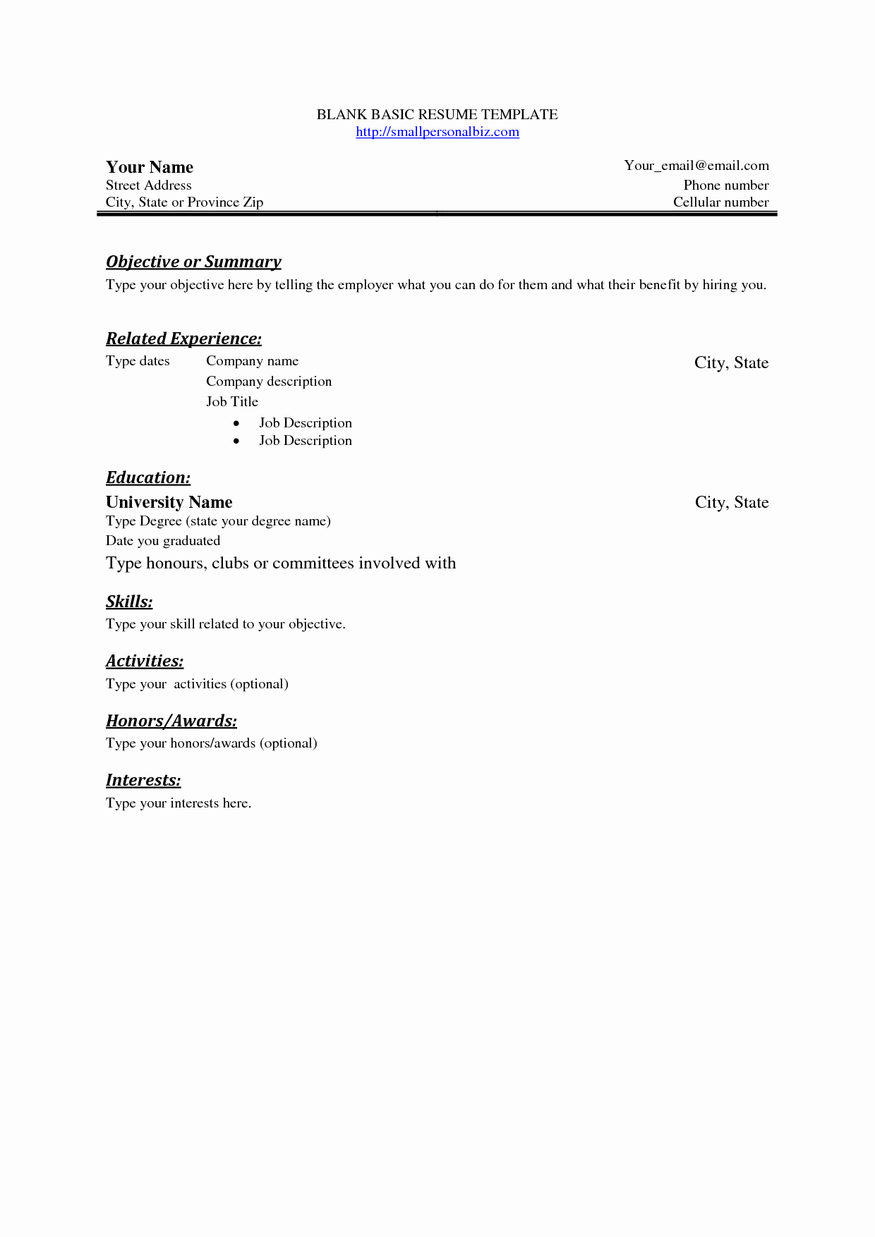 Easy Free Resume Builder 12 Infoe Link
