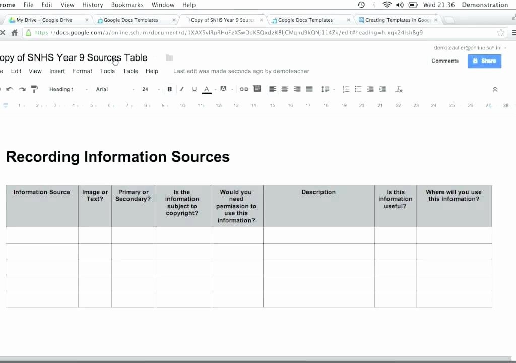 Easy Invoice Google Doc Template Free Sheets Contractor