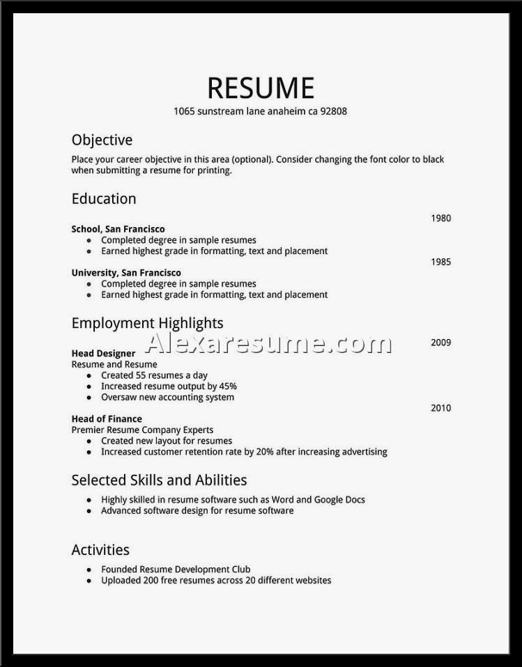 Easy Job Resume Samples Resume Template