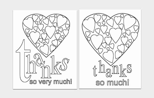 Easy Printables Thank You Card Templates