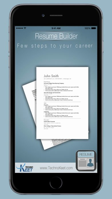 Easy Resume Builder Free Resume App and Cv Maker App