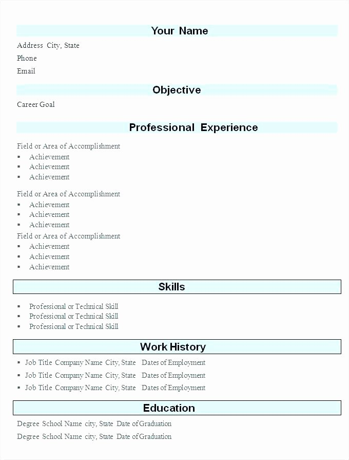 Easy Resumes Free Resume Model Download Sample Blank