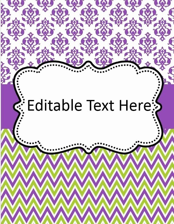 Editable Binder Cover Templates Google Search