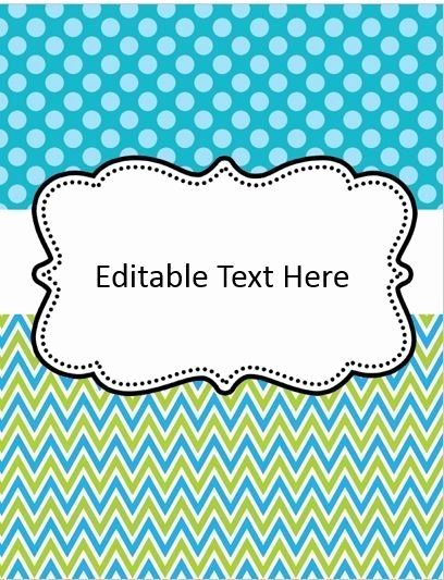Editable Binder Covers by Animallover13