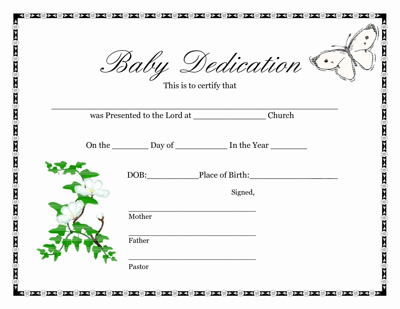 photo about Printable Birth Certificate identified as Record Templates 5 Free of charge Printable Start Certification