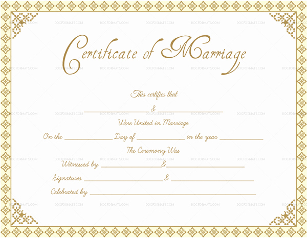 Editable Blank Marriage Certificate Templates for Word