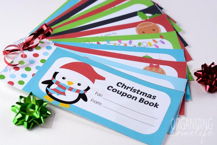 Editable Christmas Coupon Book for Kids organizing Homelife