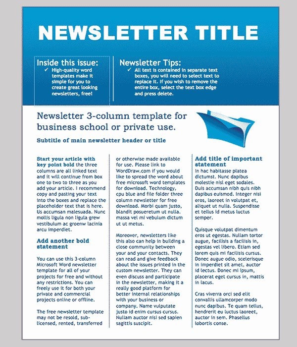 Editable Classroom Newsletter Template Free Templates