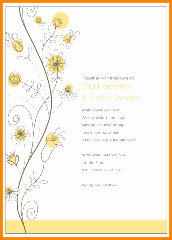 Editable Email Wedding Invitation Templates Tags with
