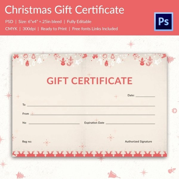 Editable Gift Certificate Template Free Gift Ftempo