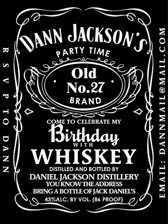 Editable Jack Daniels Label Template Templates Resume