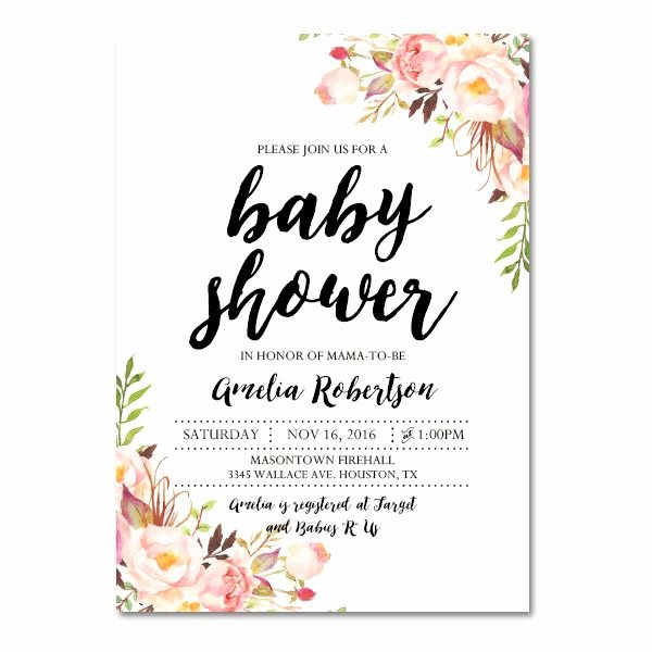 Editable Pdf Baby Shower Invitation Diy – Elegant Vintage
